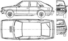 FSO Polonez 15 LE Hatchbacks, Blue Prints, Car Makes, Car Sketch, Drawing Reference, Cars And Motorcycles, Wooden Toys, Specs, Transportation