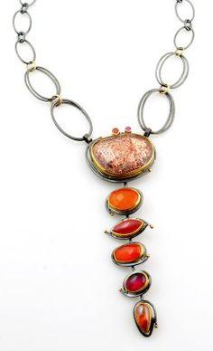 Orange Cascade Necklace - Sydney Lynch