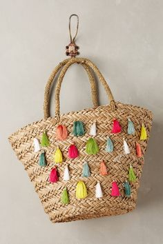 Nimmes Straw Tote by Flora Bella #anthroregistry