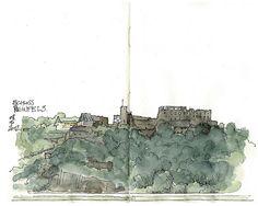 Flickr: Secuencia de fotos de gerard michel Urban Sketchers, Watercolor Sketch, Watercolor Techniques, Landscape Architecture, Sketches, Drawings, Arno, Sketchbooks, Inspiration