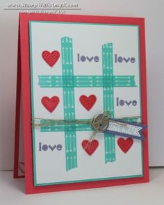 Tic-Tac-Toe Washi Tape Valentine – Stampin' Up! | Stamp With Amy K | Bloglovin'