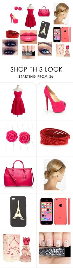 """""""Novees Logann<3"""" by macacolorusher ❤ liked on Polyvore featuring beauty, J.Crew, Christian Louboutin, Swarovski, Tory Burch, Lanvin, Charlotte Russe and Chanel"""
