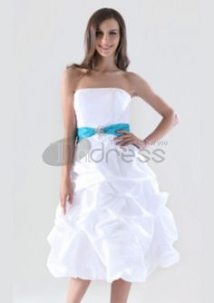 A-line Strapless Knee-length Taffeta Pick-up Bridesmaid/ Homecoming Dress – GBP £ dont usually like short bridemaid dresses but i love the detail at the bottom of the dress Prom Dresses Under 100, Cheap Bridesmaid Dresses Online, Wedding Party Dresses, Homecoming Dresses, Bridal Dresses, Taffeta Bridesmaid Dress, White Bridesmaid Dresses, Strapless Dress Formal, Formal Dresses
