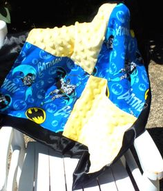 Batman blanket lovey blanket by 4my4creations on Etsy, $18.25