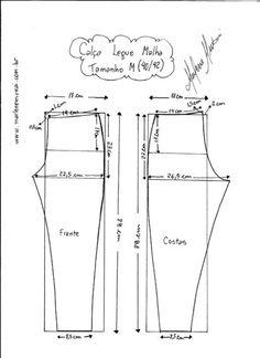 molde calça moletom feminina leg
