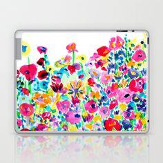 Flower Fields Pink Macbook Skin by Amy Sia - $30.00