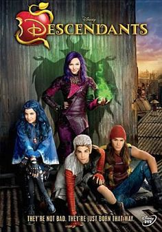 """""""A present-day idyllic kingdom where the benevolent teenage son of King Adam and Queen Belle offers a chance of redemption for the trouble making offspring of Disney's classic villains: Cruella De Vil (Carlos), Maleficent (Mal), the Evil Queen (Evie) and Jafar (Jay)."""""""