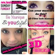 Sunday Funday!! What's more fun than treating yourself to some 3D Fiber Lash Mascara?!?! www.lealashlady.com or direct link to order in my bio