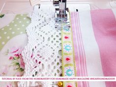 Sewing a pillowcase with Kate from the Homemakery click through for full tutorial