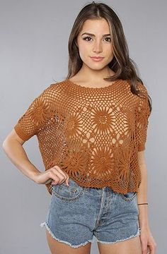 The New Romantics Bloom Crochet Top by Free People at karmaloop.com