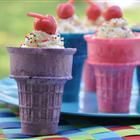 Make an easy from-scratch chocolate cake batter and spoon into ice cream cones for fun and chocolatey baked treats. There's an easy cream cheese frosting for the top, too. Easy Cupcake Frosting, Cupcake Cones, Cupcake Wars, How To Make Cupcakes, Fun Cupcakes, No Bake Treats, Yummy Treats, Sweet Treats, Chocolate Cone