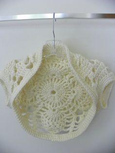 Spring Handmade Lace Bolero Shrug  Custom Fit  Free by LindenLeasCrochet,