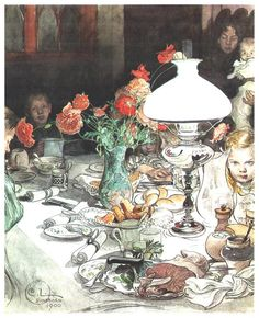 Clair obscur, 1877 by Carl Larsson. Romanticism. genre painting