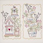 free embroidery and quilting patterns...there's a super-cute woodland fairy embroidery pattern and a hexagon-style quilt that makes Chinese lanterns!