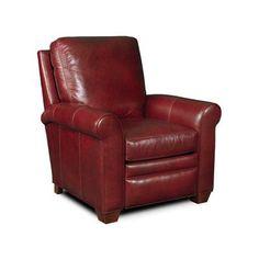 Bradington-Young Landry 3-Way Lounger Leather Recliner Finish: Mahogany, Upholstery: 912500-84