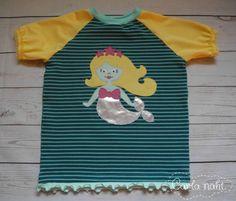 Summer Rockers Shirt mit einer süßen Meerjungfrauen-Applikation nach Stina Wupp