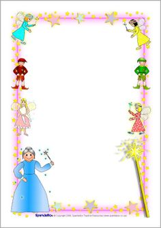 A LOT of free printable images Fairy-themed A4 page borders (SB2270) - SparkleBox