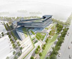 Form Architecture, Conceptual Architecture, Library Architecture, Futuristic Architecture, School Architecture, Architecture Portfolio, Landscape Plans, Landscape Design, Shopping Mall Architecture