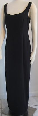 """""""LAUNDRY"""" BY SHELLI SEGAL LONG BLACK DRESS DECORATED BACK"""