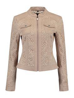 veste courte de printemps coloris beige rosé en simili cuir Rino   Pelle 7dac9e825b4