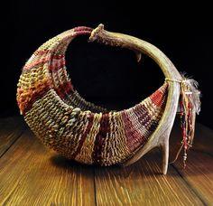Handmade Antler Rib Baskets woven by Mark Hendry for Organic Artist Tree in Blue Ridge, GA