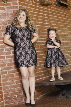 s Clothing Children' Mommy Daughter Dresses, Mother Daughter Matching Outfits, Mother Daughter Fashion, Mom Daughter, Mom And Baby Outfits, Couple Outfits, Kids Outfits, Little Girl Fashion, Little Girl Dresses