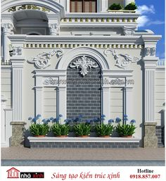 chi tiết thiết kế cổng biệt thự cổ điển Front Wall Design, Main Gate Design, Door Gate Design, Facade Design, Fence Design, Classic House Exterior, Dream House Exterior, Luxury House Plans, New House Plans