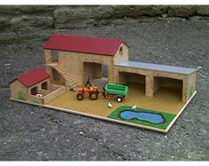 Wood Projects For Kids, Crafts For Kids, Projects To Try, Farm Village, Toy Barn, Farm Crafts, Farm Toys, Wooden Train, Stay At Home Mom