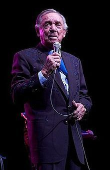 Ray Price, country music singer, songwriter, guitarist, UT Arlington alum and Country Music Hall of Fame inductee.