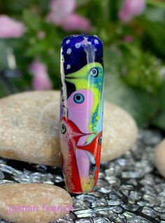 °° CHICKs ALLOVER °° lampwork bead by jasmin french