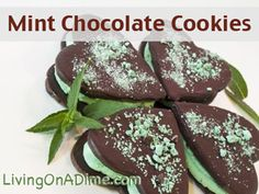 This Whoopie Pies recipe makes tasty mint chocolate cookies that have been a popular dessert for a long time! They're easy and cheap (just $2.00) to make and your whole family will love them! Click here to get this yummy #recipe http://www.livingonadime.com/mint-chocolate-cookies-recipe-whoopie-pies/