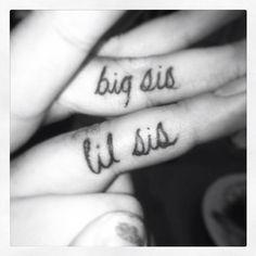 #tattoo BIG sis little SIS