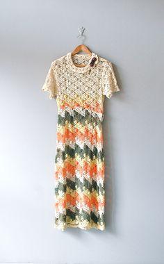 1930s crocheted cotton dress