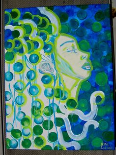 """I called this painting """"Mother Nature"""", it's an acrylic painting I did in 2009 that hasn't left my wall, yet. I'm hoping to find it a loving home someday. Mother Nature, Paintings, Wall, Artwork, Work Of Art, Painting Art, Painting, Walls, Painted Canvas"""