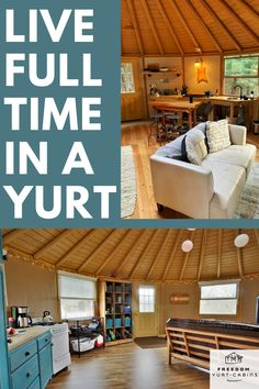 If you're interesting in tiny living consider a yurt. Yurts are great tiny spaces for full time living. They're simple, unique, durable, can be off grid, and easy to build. The basic interior design is unique and beautiful on its own. Round House Plans, Tiny House Plans, Yurt Loft, Yurt Interior, Interior Design, Log Cabin Mobile Homes, Building A Yurt, Luxury Yurt, Modern Tiny House