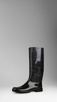 Beat check rubber finish rain boots  Anti-slip rubber sole Insole embossed with the Burberry logo