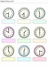 Worksheets for children What time is it? Samurai Tattoo, What Time Is, School Worksheets, Exercise For Kids, Elementary Schools, Printables, Activities, Recipes, Games