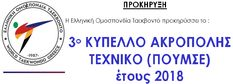 ΕΛΟΤ, Αγώνες poomsae στο 3ο Κύπελλο Ακρόπολης Ταεκβοντό, 15-17 Ιουνίου 2018