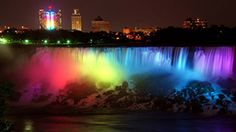 Niagara Falls goes rainbow in honor of SCOTUS gay marriage decision.