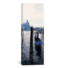 East Urban Home Panoramic Santa Maria Della Salute, Venice, Italy Photographic Print on Canvas Size: 60'' H x 20'' W x 1.5'' D