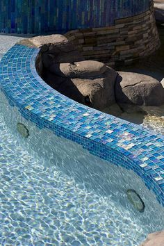 Lightstreams Jewel Gl Accent Tile Mystic Spring Pool Swimming Tiles