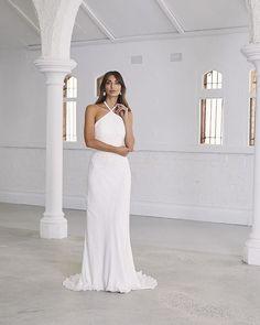 70 Best Halter Neck Style Wedding Dresses images | Wedding