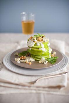 Lovely Stacked Apple Slice Salad