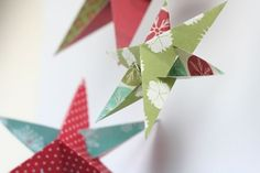 Christmas star decorations to make, with free template