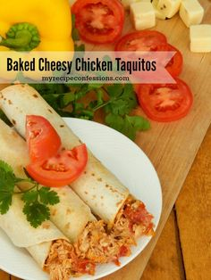 These Baked Cheesy Chicken Taquitos are just as crispy and flavorful as the fried version!