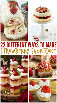 25 Different Ways to Make Strawberry Shortcake Want to mix things up a bit when it comes to strawberry desserts? Here are 25 different ways to make strawberry shortcake including strawberry shortcake cheesecake! Oreo Trifle, Strawberry Shortcake Cheesecake, Strawberry Desserts, Chocolate Strawberries, Covered Strawberries, Strawberry Picking, Dessert Simple, Easy Desserts, Dessert Recipes