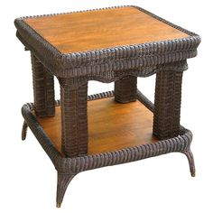 Victorian Wicker Center Table | From a unique collection of antique and modern center tables at https://www.1stdibs.com/furniture/tables/center-tables/
