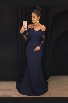08df6fa3776 Customized Substantial Long Sleeves Prom Dress