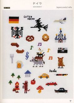My Cross-Stitch 500 by Makoto Oozu Japanese por JapanLovelyCrafts