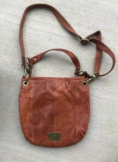 42ac653d4dfc FOSSIL Cognac Leather Crossbody Long Live Vintage 1954 Saddle Handbag